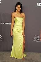 NEW YORK, NY - FEBRUARY 6: Chanel Iman arriving at the 21st annual amfAR Gala New York benefit for AIDS research during New York Fashion Week at Cipriani Wall Street in New York City on February 6, 2019. <br /> CAP/MPI/JP<br /> &copy;JP/MPI/Capital Pictures