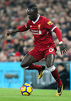 Liverpool's Sadio Mane<br /> <br /> Photographer Alex Dodd/CameraSport<br /> <br /> The Premier League - Liverpool v Manchester City - Sunday 14th January 2018 - Anfield - Liverpool<br /> <br /> World Copyright &copy; 2018 CameraSport. All rights reserved. 43 Linden Ave. Countesthorpe. Leicester. England. LE8 5PG - Tel: +44 (0) 116 277 4147 - admin@camerasport.com - www.camerasport.com