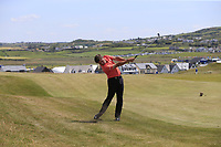 Robert Rock (ENG) plays his 2nd shot on the 6th hole during Thursday's Round 1 of the Dubai Duty Free Irish Open 2019, held at Lahinch Golf Club, Lahinch, Ireland. 4th July 2019.<br /> Picture: Eoin Clarke | Golffile<br /> <br /> <br /> All photos usage must carry mandatory copyright credit (© Golffile | Eoin Clarke)