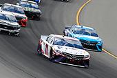 #11: Denny Hamlin, Joe Gibbs Racing, Toyota Camry FedEx Freight and #19: Martin Truex Jr., Joe Gibbs Racing, Toyota Camry Auto Owners Insurance