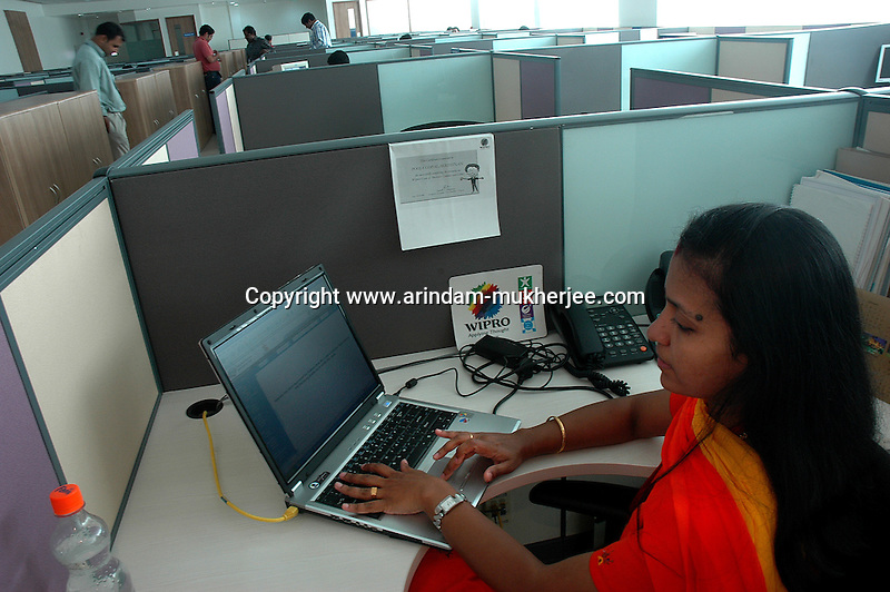 Pooja at work in Wipro Bangalore office. She is a project manager at Wipro softwares in Bangalore. Wipro is the second largest software company in the country and the head office is in Bangalore, Karnataka, India. Arindam Mukherjee