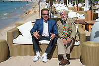 Arnold Schwarzenegger &amp; Jean-Michel Cousteau at the photocall for &quot;Wonders of the Sea 3D&quot; on the beach at the 70th Festival de Cannes, Cannes, France. 20 May 2017<br /> Picture: Paul Smith/Featureflash/SilverHub 0208 004 5359 sales@silverhubmedia.com