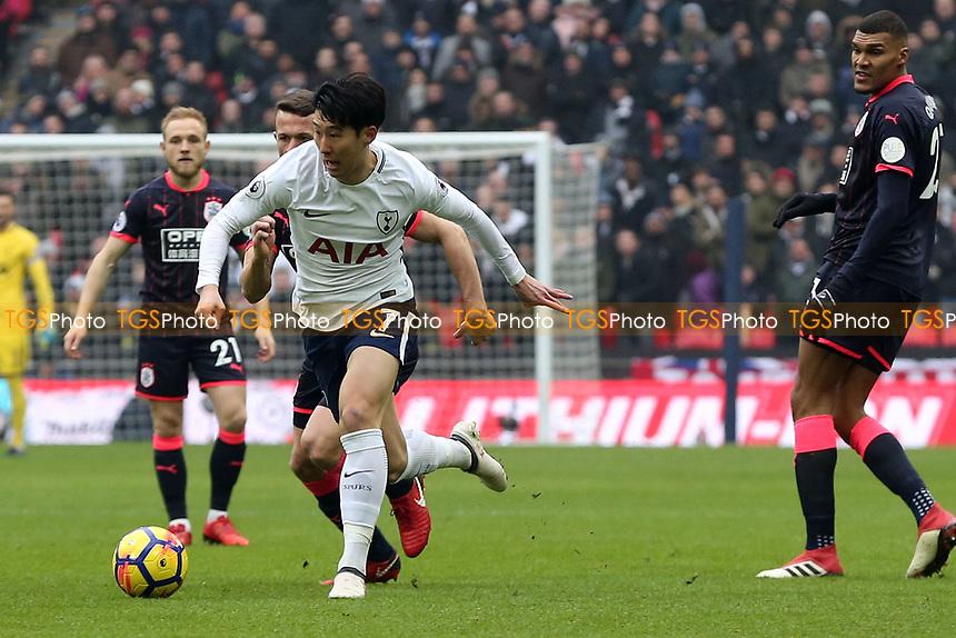 Son Heung-Min of Tottenham Hotspur during Tottenham Hotspur vs Huddersfield Town, Premier League Football at Wembley Stadium on 3rd March 2018