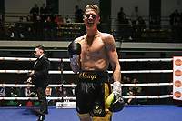 Marc Osborne (black shorts) defeats Dan Blackwell during a Boxing Show at York Hall on 15th February 2020