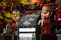Statues on Stage. The Dead performing in concert at the Tweeter Center, Mansfield MA 22 June 2003