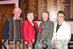 -8797-8801.---------.Night out.---------.Attending the annual Social of the Abbeyfeale coursing club held in the GAA clubhouse Abbeyfeale were L-R John Joe O Connor,Eileen fitzgerald,Nora O Connor and Nono curtin.