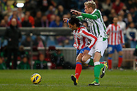 03.02.2013 SPAIN -  La Liga 12/13 Matchday 22th  match played between Atletico de Madrid vs Real Betis Balompie (1-0) at Vicente Calderon stadium. The picture show Radamel Falcao Garcia (Colombian striker of At. Madrid)