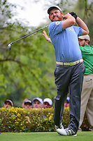 J.B. Holmes (USA) watches his tee shot on 18 during round 3 of the World Golf Championships, Mexico, Club De Golf Chapultepec, Mexico City, Mexico. 3/4/2017.<br /> Picture: Golffile | Ken Murray<br /> <br /> <br /> All photo usage must carry mandatory copyright credit (&copy; Golffile | Ken Murray)