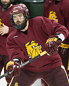 Brady Lamb (Duluth - 2) - The University of Minnesota-Duluth Bulldogs practiced on Friday morning, April 8, 2011, during the 2011 Frozen Four at the Xcel Energy Center in St. Paul, Minnesota.