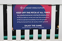 A general view of signage around the field of play at the Oval during India vs New Zealand, ICC World Cup Warm-Up Match Cricket at the Kia Oval on 25th May 2019