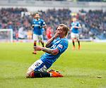 4.3.2018: Rangers v Falkirk Scottish Cup QF<br /> Jason Cummings celebrates his first goal