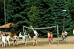 Minnesota Lake Country:.Volleyball at Grand View Lodge on Gull Lake..Photo copyright Lee Foster, www.fostertravel.com..Photo #: mnlake105, 510/549-2202,.lee@fostertravel.com