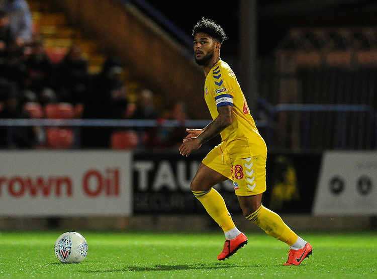 Bolton Wanderers' Liam Bridcutt<br /> <br /> Photographer Kevin Barnes/CameraSport<br /> <br /> EFL Leasing.com Trophy - Northern Section - Group F - Rochdale v Bolton Wanderers - Tuesday 1st October 2019  - University of Bolton Stadium - Bolton<br />  <br /> World Copyright © 2018 CameraSport. All rights reserved. 43 Linden Ave. Countesthorpe. Leicester. England. LE8 5PG - Tel: +44 (0) 116 277 4147 - admin@camerasport.com - www.camerasport.com