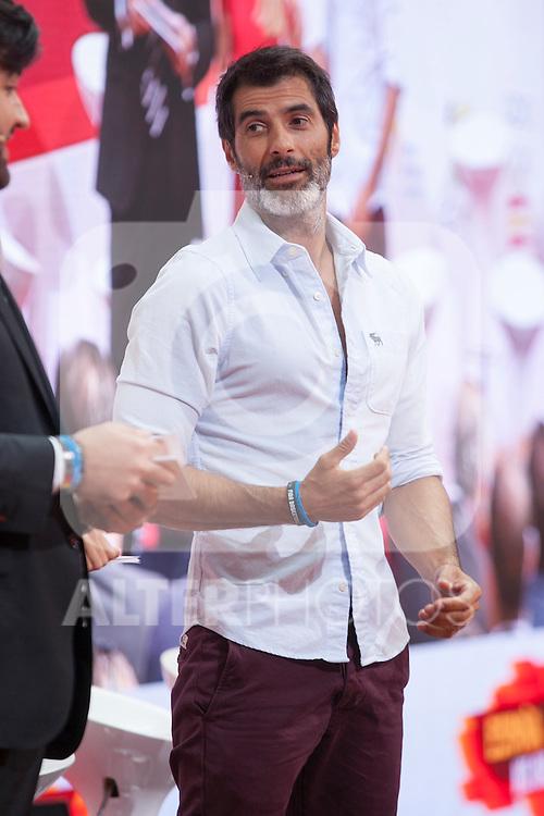 TV presenter Jorge Fernandez during the official presentation of Spain´s basketball team for the 2014 Spain Basketball Championship in Madrid, Spain. July 24, 2014. (ALTERPHOTOS/Victor Blanco)