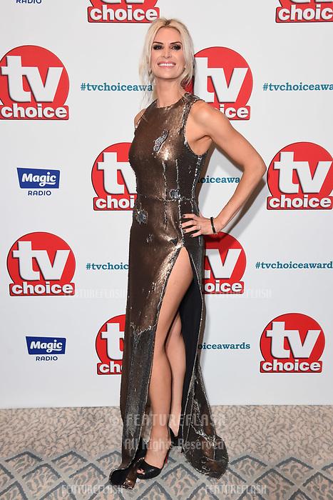 LONDON, UK. September 10, 2018: Sarah Jayne Dunn at the TV Choice Awards 2018 at the Dorchester Hotel, London.<br /> Picture: Steve Vas/Featureflash