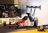 Jul. 26, 2013; Sonoma, CA, USA: NHRA top fuel dragster driver Doug Kalitta during qualifying for the Sonoma Nationals at Sonoma Raceway. Mandatory Credit: Mark J. Rebilas-