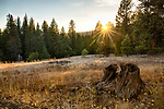 Idaho, West Central, McCall. An autumn sunset in Ponderosa State Park.