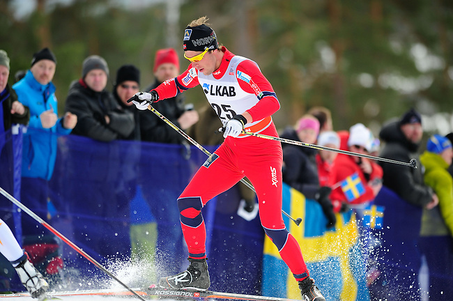 FALUN, SWEDEN - March 24: Chris Andre Jespersen of Norway (NOR)  during the Viessmann Men Handicap 15 km F at the FIS Cross country World Cup Final on March 24, 2013 in Falun, Sweden. (Photo by Dirk Markgraf)