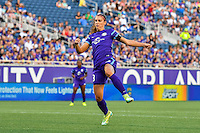Orlando, FL - Thursday June 23, 2016: Alex Morgan during a regular season National Women's Soccer League (NWSL) match between the Orlando Pride and the Houston Dash at Camping World Stadium.