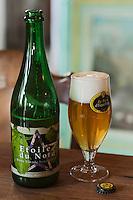 Europe/France/Nord-Pas-de-Calais/59/Nord/ Esquelbecq: Etoile du Nord -  Bière  de Daniel Thiriez à l'estaminet de la brasserie artisanale