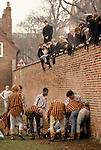 Eton college school, near nr Windsor Berkshire. England. The Wall Game.