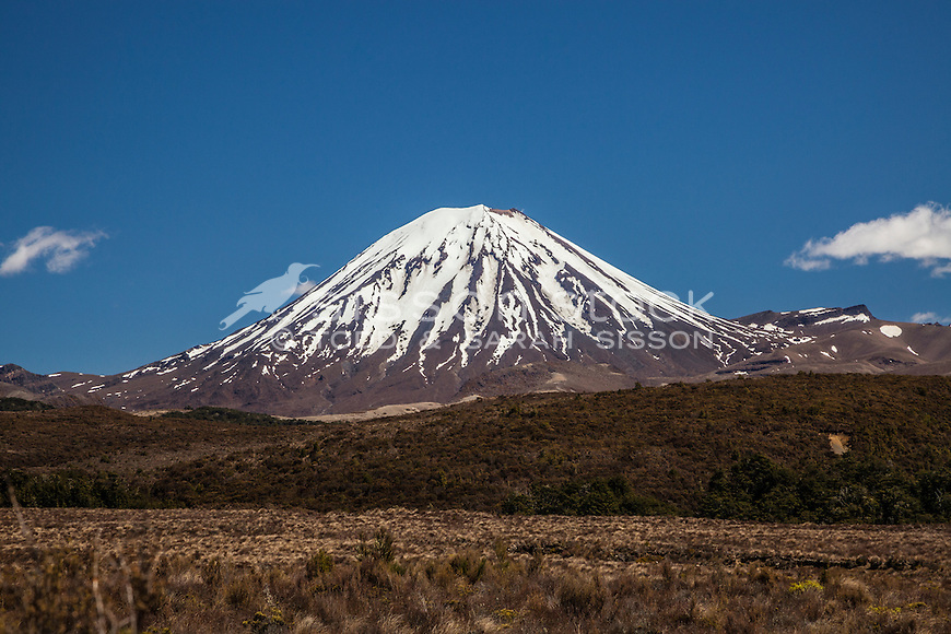 Mt Ngarahoe, Tongariro National Park, New Zealand - stock photo, canvas, fine art print