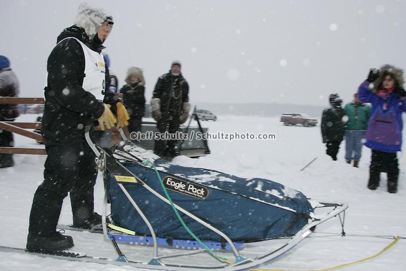 Jr. Iditarod Willow Lake  start / finish  Mark Ruzicka