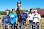 RACES: Form was good for these 5 punters as they prepare for the Castleisland Races on Sunday. L-r: Denis and Elaine Hayes (Glenbeigh), Des Sullivan (Listowel), Kevin McGillcuddy and Paddy O'Sullivan (Glenbeigh)......................................... ....