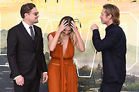 "LONDON, UK. July 30, 2019: Leonardo DiCaprio, Margot Robbie & Brad Pitt at the UK premiere for ""Once Upon A Time In Hollywood"" in Leicester Square, London.<br /> Picture: Steve Vas/Featureflash"