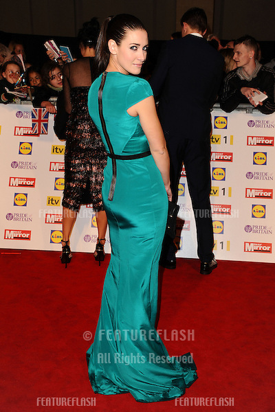 Kirsty Gallagher arriving for the 2012 Pride of Britain Awards, at the Grosvenor House Hotel, London. 29/10/2012 Picture by: Steve Vas / Featureflash