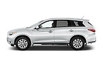 Car Driver side profile view of a 2014 Infiniti QX60 Hybrid 5 Door SUV Side View