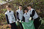 St Mary's students, Kevin Murphy, Jamie Shiels, Evan Mahon and Conor Hickey taking part in National Spring Clean Week...(Photo credit should read Jenny Matthews www.newsfile.ie)....This Picture has been sent you under the conditions enclosed by:.Newsfile Ltd..The Studio,.Millmount Abbey,.Drogheda,.Co Meath..Ireland..Tel: +353(0)41-9871240.Fax: +353(0)41-9871260.GSM: +353(0)86-2500958.email: pictures@newsfile.ie.www.newsfile.ie.