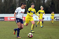 Bianca Baptiste of Tottenham Ladies during Tottenham Hotspur Ladies vs Oxford United Women, FA Women's Super League FA WSL2 Football at Theobalds Lane on 11th February 2018