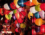 Lantern Stall 03 - Night stalls selling silk lanterns, An Hoi Island, Hoi An Viet Nam