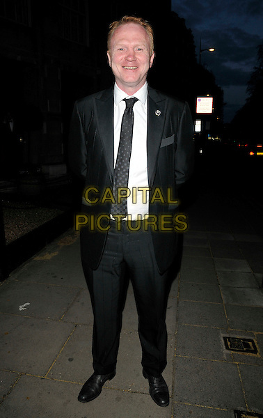 ALEX McLEISH, Birmingham City FC manager.At the Professional Footballers' Association Awards, Grosvenor House hotel, Park Lane, London, England, UK, 25th April 2010..PFA full length black suit tie white shirt smiling .CAP/CAN.©Can Nguyen/Capital Pictures.