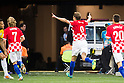 Nikica Jelavic (CRO), JUNE 12, 2014 - Football / Soccer : Nikica Jelavic celebrates after Brazil's Marcelo (Not Pictured) scores an own goal for Croatia's first during the FIFA World Cup Brazil 2014 Group A match between Brazil 3-1 Croatia at Arena de Sao Paulo in Sao Paulo, Brazil. (Photo by Maurizio Borsari/AFLO)