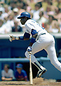 CIRCA 1982:  Dusty Baker #12 of the Los Angles Dodgers at bat during a game from his 1982 season with the Los Angles Dodgers .  Dusty Baker played for 19 years with 4 different teams and was a 2-time All-Star.(Photo by: 1982 : SportPics :Dusty Baker