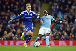 Kiev's Lukasz Teodorczyk and Eliaquim Mangala of Manchester City during the UEFA Champions League match at the Etihad Stadium. Photo credit should read: Philip Oldham/Sportimage