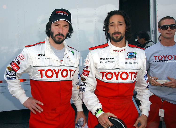 **ALL ROUND PICTURES FROM SOLARPIX.COM**.**SYNDICATION RIGHTS FOR UK, AUSTRALIA, DENMARK, PORTUGAL, S. AFRICA, SPAIN & DUBAI (U.A.E) ONLY**.Press Day at the 2009 Toyota Pro/Celebrity Race. Held at the Long Beach Convention Center, Long Beach, California, USA. 7 April 2009..This pic: Keanu Reeves and Adrien Brody..JOB REF: 8778 PHZ (Ortega)  DATE: 07_04_2009.**MUST CREDIT SOLARPIX.COM OR DOUBLE FEE WILL BE CHARGED**.**ONLINE USAGE FEE GBP 50.00 PER PICTURE - NOTIFICATION OF USAGE TO PHOTO @ SOLARPIX.COM**.**CALL SOLARPIX : +34 952 811 768 or LOW RATE FROM UK 0844 617 7637**