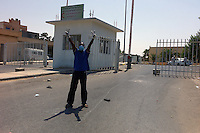 Tripoli, Libya, August 27, 2011.Khaddafi: Game Over!.