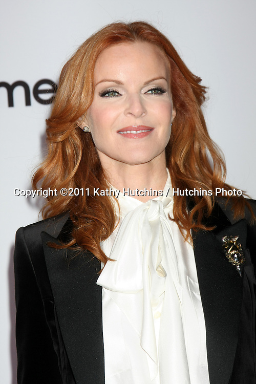 """LOS ANGELES - SEPT 21:  Marcia Cross arriving at the """"Desperate Housewives"""" Final Season Kick-Off Party at Wisteria Lane, Universal Studios on September 21, 2011 in Los Angeles, CA"""