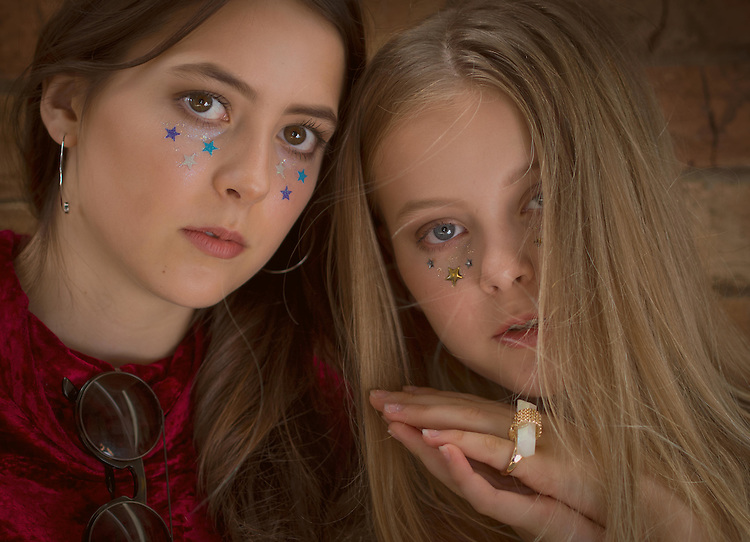 """""""The Day After"""" photoshoot with young Brisbane sisters Laura (blonde) of Busy Models  and older sister Julia Yeap (brunette) in Brisbane, Queensland, Australia, Sunday, February 21, 2016. Earrings and ring from The Amored Club (Photo by John Pryke, Styling - Sandra Carvalho, MUA - Teena Jade - Make Up Artist)"""