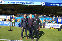 Southend United manager Chris Powell and Bill Turnbull & Wycombe Wanderers Manager Gareth Ainsworth pre match during the Sky Bet League 1 match between Wycombe Wanderers and Southend United at Adams Park, High Wycombe, England on 29 September 2018. Photo by Andy Rowland / PRiME Media Images.