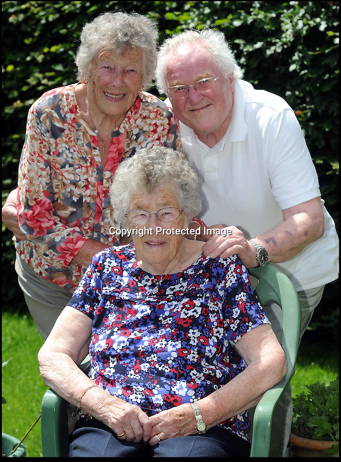 BNPS.co.uk.(01202 558833)<br /> Pic: FinnWebster/BNPS<br /> <br /> Nevile Jones and sisters Edna(left) and Iris<br /> <br /> Britain's oldest set of triplets whose combined weight at birth was the same as a normal baby have celebrated their 85th birthday.<br /> <br /> Neville Jones and sisters Edna Doodson and Iris Hopkin were born just 20 minutes apart in June 1929.<br /> <br /> Twins had run in the family and their mother Margaret had been expecting two babies before youngest sibling Iris arrived to make it a hat-trick.<br /> <br /> She weighed just 2lbs and was given little chance of survival but pulled through. Edna weighed 3lbs and Neville a healthier 4lbs.