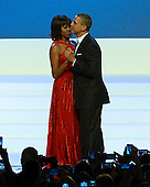 United States President Barack Obama and first lady Michelle Obama dance to the music of Jennifer Hudson (not pictured) at the Inaugural Ball at the Washington Convention Center in Washington, D.C. on Monday, January 21, 2013..Credit: Ron Sachs / CNP.(RESTRICTION: NO New York or New Jersey Newspapers or newspapers within a 75 mile radius of New York City)