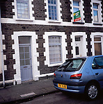Traditional terraced housing, Grangetown, Cardiff, Wales