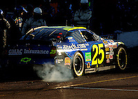 Nov 13, 2005; Phoenix, Ariz, USA;  Nascar Nextel Cup driver Brian Vickers driver of the #25 Ditech Chevy pulls out of pit road following a pit stop during the Checker Auto Parts 500 at Phoenix International Raceway. Mandatory Credit: Photo By Mark J. Rebilas