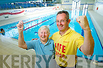 Champion swimmer Bridie O'Connell with her coach Ger McDonnell.