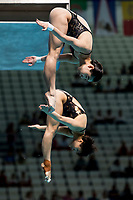 CHANG Yani, SHI Tingmao CHN<br /> Diving <br /> Women's 3m Synchro Springboard Preliminary<br /> Day 04 17/07/2017 <br /> XVII FINA World Championships Aquatics<br /> Duna Arena Budapest Hungary July 15th - 30th 2017 <br /> Photo @A.Masini/Deepbluemedia/Insidefoto