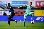 Zweikampf, Duell zwischen Jamilu Collins (SC Paderborn) und Pavel Kaderabek (Hoffenheim).<br />